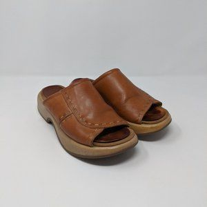 Dansko Brown Leather Slip On Clogs EU 39